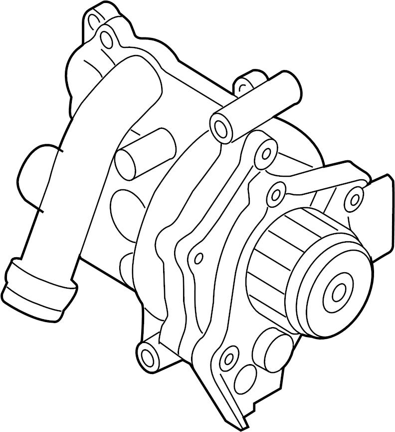 2009 volkswagen tiguan engine water pump assembly  water