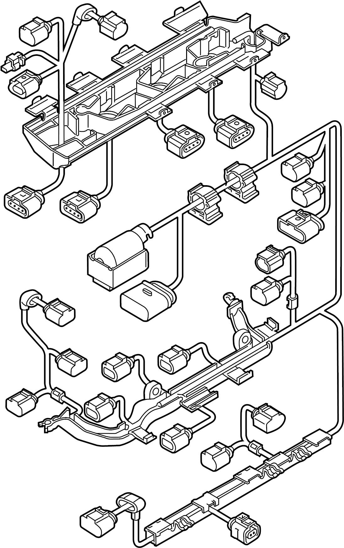 2013 volkswagen jetta hybrid engine harness  engine wiring harness  1 4 liter  1 4 liter