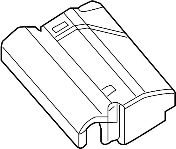 2014 Volkswagen Jetta Fuse Box Cover  Liter  Engine  Compartment