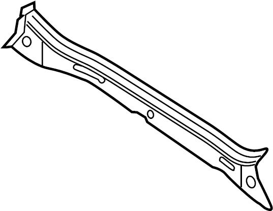 2011 volkswagen jetta cowl panel reinforcement  lower   from 10  2010  sedan  from 10  2010  sedan