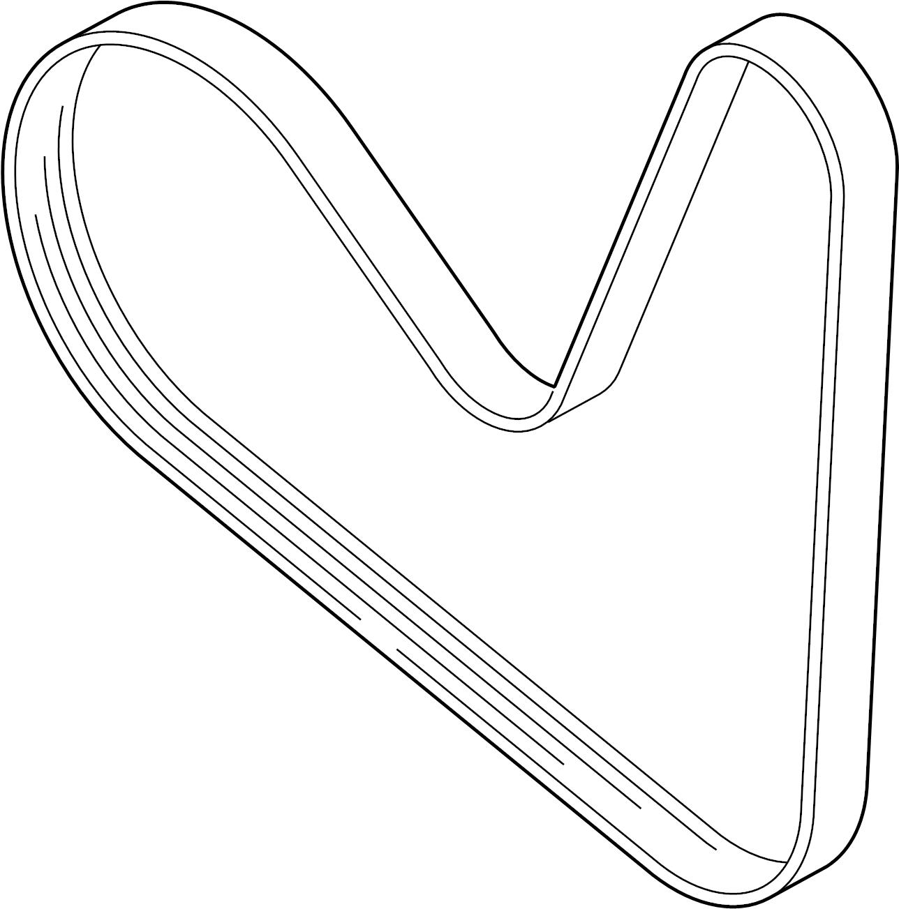2016 volkswagen jetta ribbedbelt  serpentine belt
