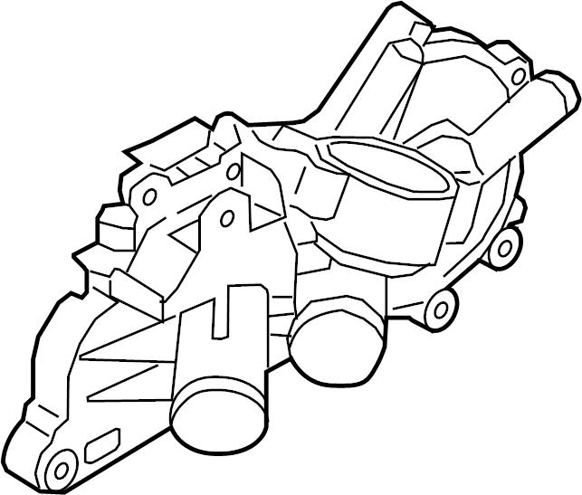 2014 volkswagen jetta hybrid cover  engine coolant outlet