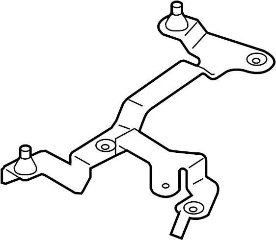 2013 volkswagen cc bracket  air  cleaner  mass flow sensor  mount  retainer plate