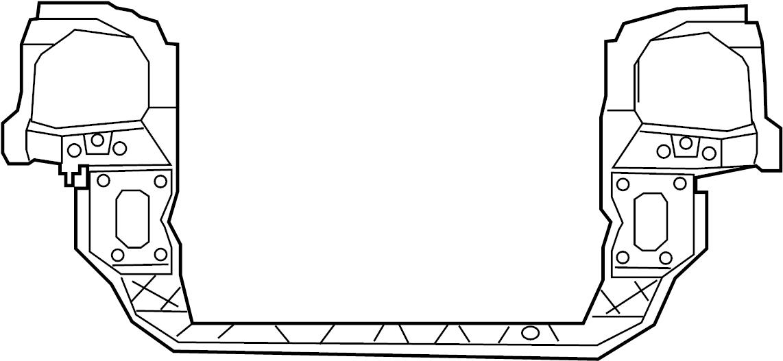 2010 volkswagen routan radiator support panel front lower. Black Bedroom Furniture Sets. Home Design Ideas