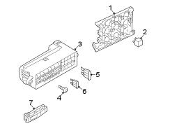 2009 volkswagen tiguan relay box relay plate passenger. Black Bedroom Furniture Sets. Home Design Ideas